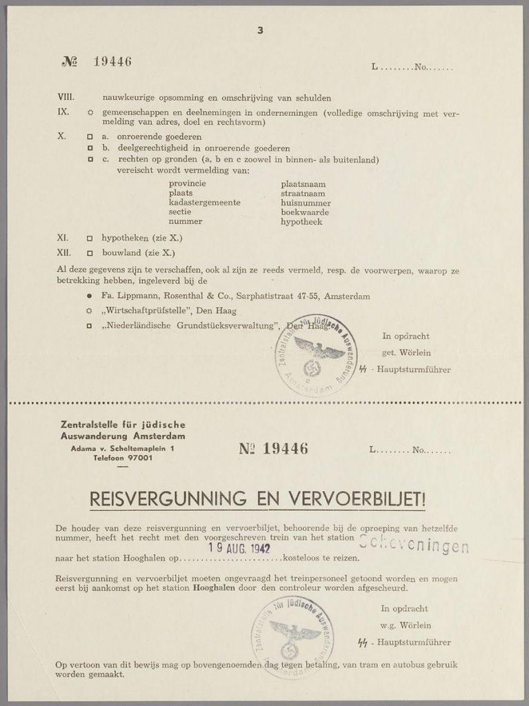 Oproeping mevr. Ida van Raalte-Simons, blad 3. (Collectie Joods Historisch Museum)