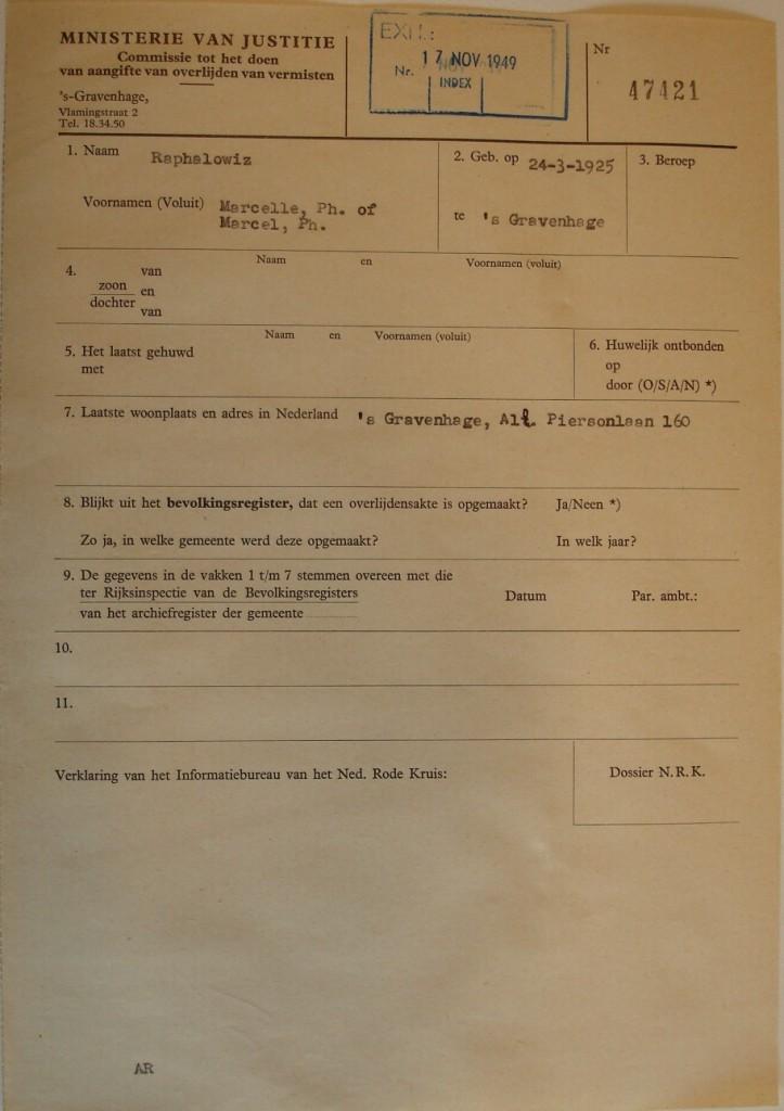 Dossier Marcel Philip Raphalowiz, blad 2