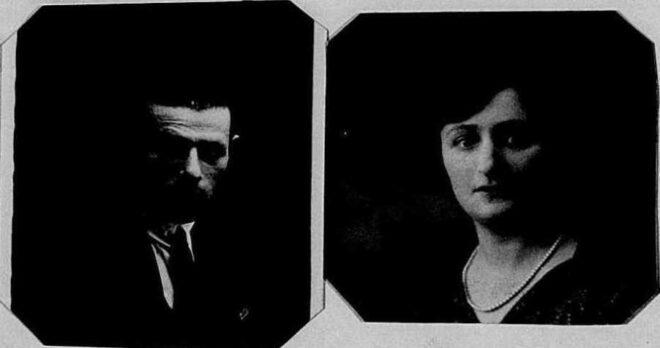 Pasfoto's van Henri Raphalowiz en Josephina Velleman, uit het Antwerps vreemdelingendossier