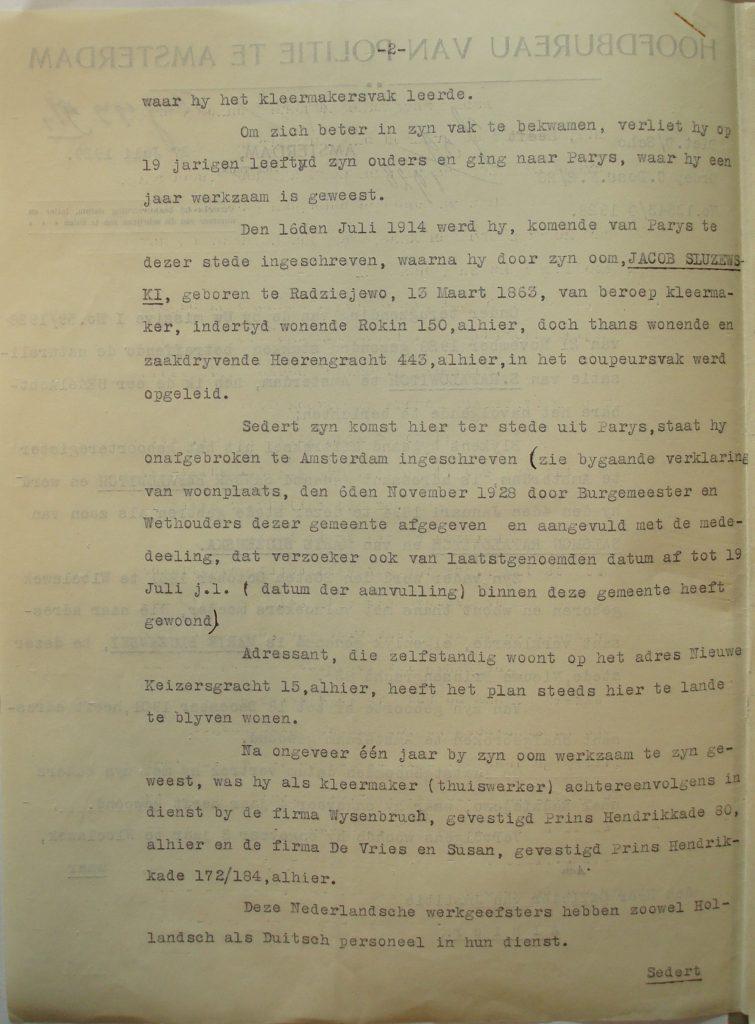 Verklaring namens de Hoofdcommissaris van Politie (2)