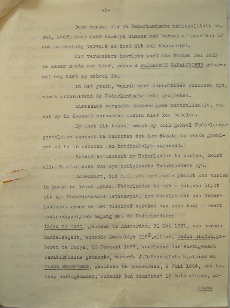 Verklaring namens de Hoofdcommissaris van Politie (5)