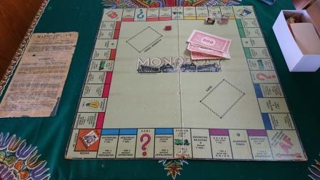 Foto: Het monopolyspel van het gezin Raphalowiz